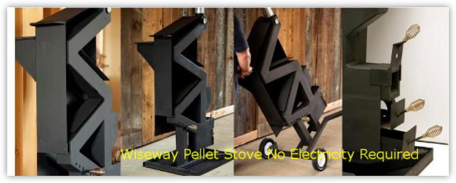 WiseWay Pellet Stove No Electricity Needed